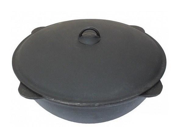 Казан чугунный БЛМЗ 18 литров с алюминиевой крышкой