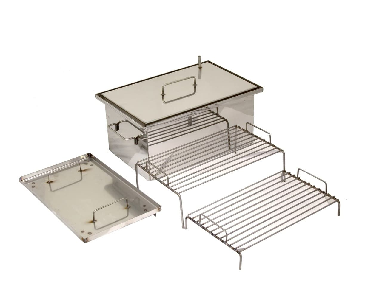 Купить коптильню из нержавейки сталь 2 мм. 400х200х200