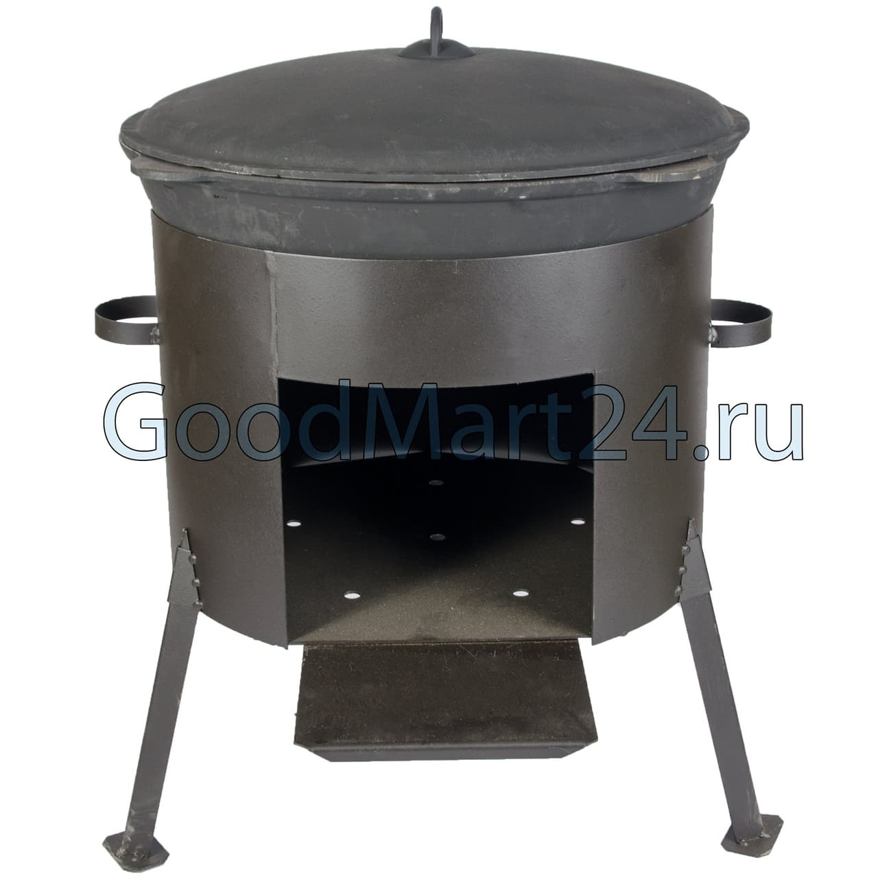 Чугунный казан 25 л. БЛМЗ + печь 480 мм фото