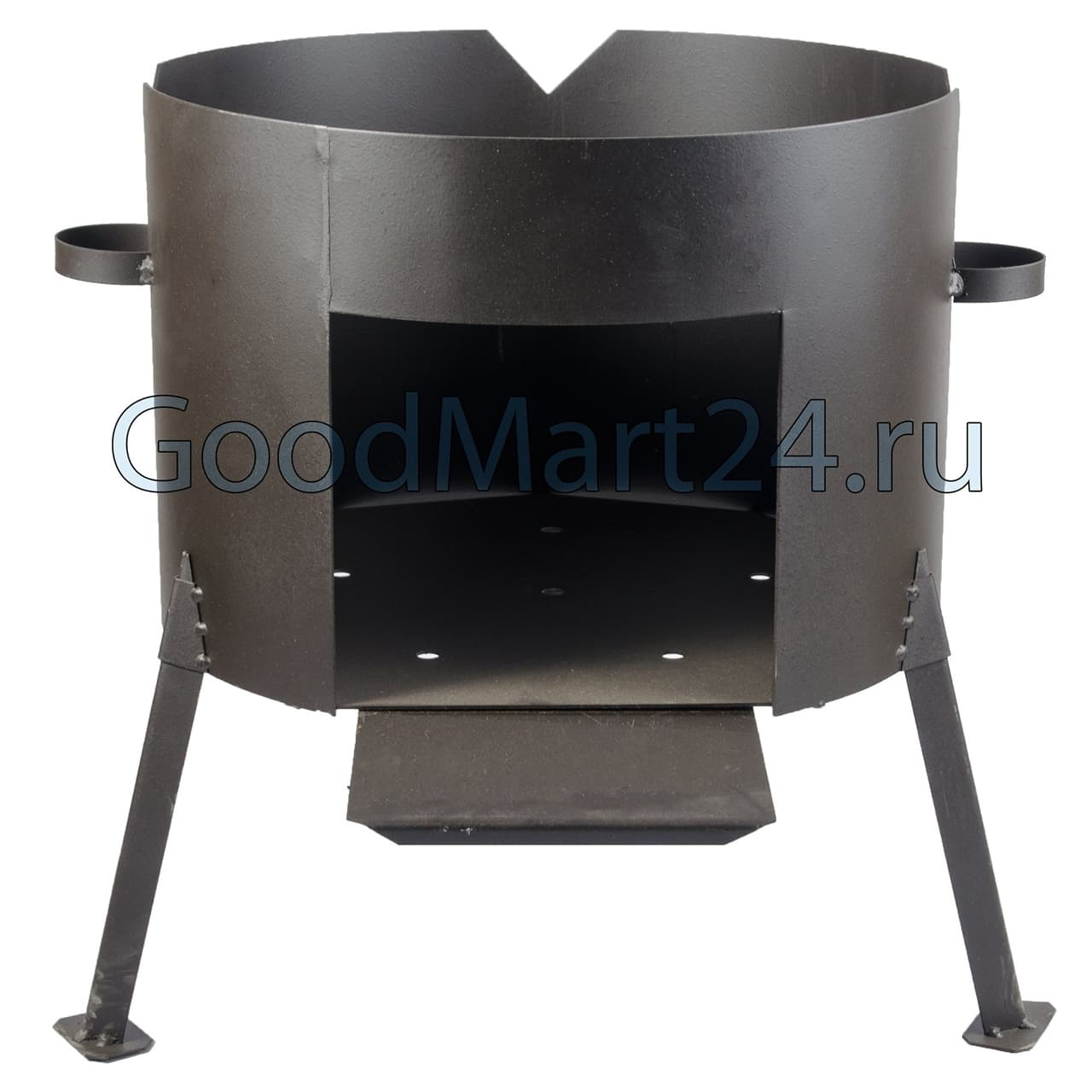 фото Комплекта из чугунного казана БЛМЗ 25 литров и печь сталь 2 мм