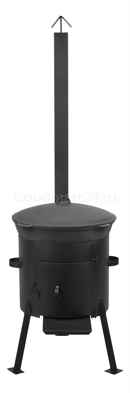 чугунный казан 8 литров БЛМЗ и печь с трубой 340 мм фото