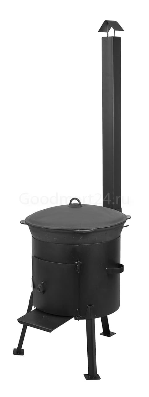заказать чугунный казан 8 литров БЛМЗ и печь с трубой