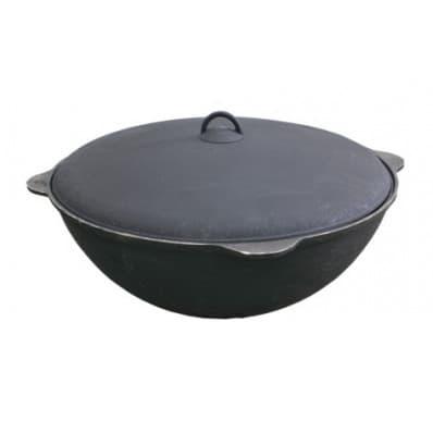 чугунный казан 18 литров БЛМЗ и печь с трубой фото
