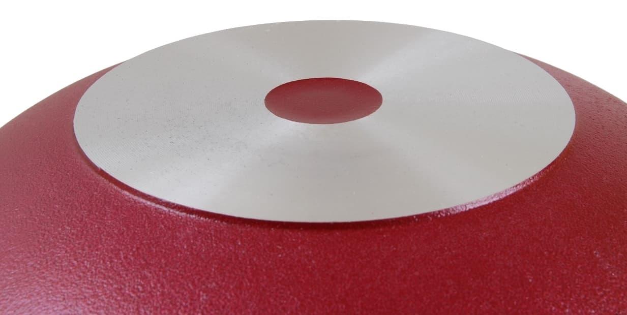 Казан с декоративным покрытием 6 л. Бордовый с крышкой Kukmara - фото 4955
