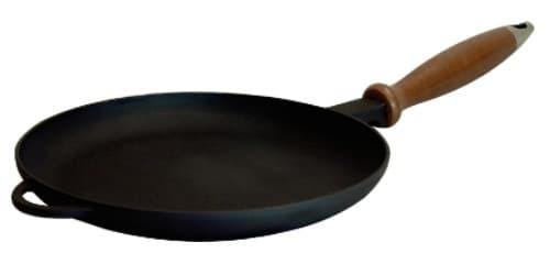 Сковорода блинная 220Х20 мм. деревянная ручка Ситон Ч2220д