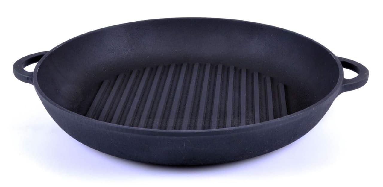 Сковорода цыплята-табака 260х40 мм. чугунная Ситон ЧГ2640