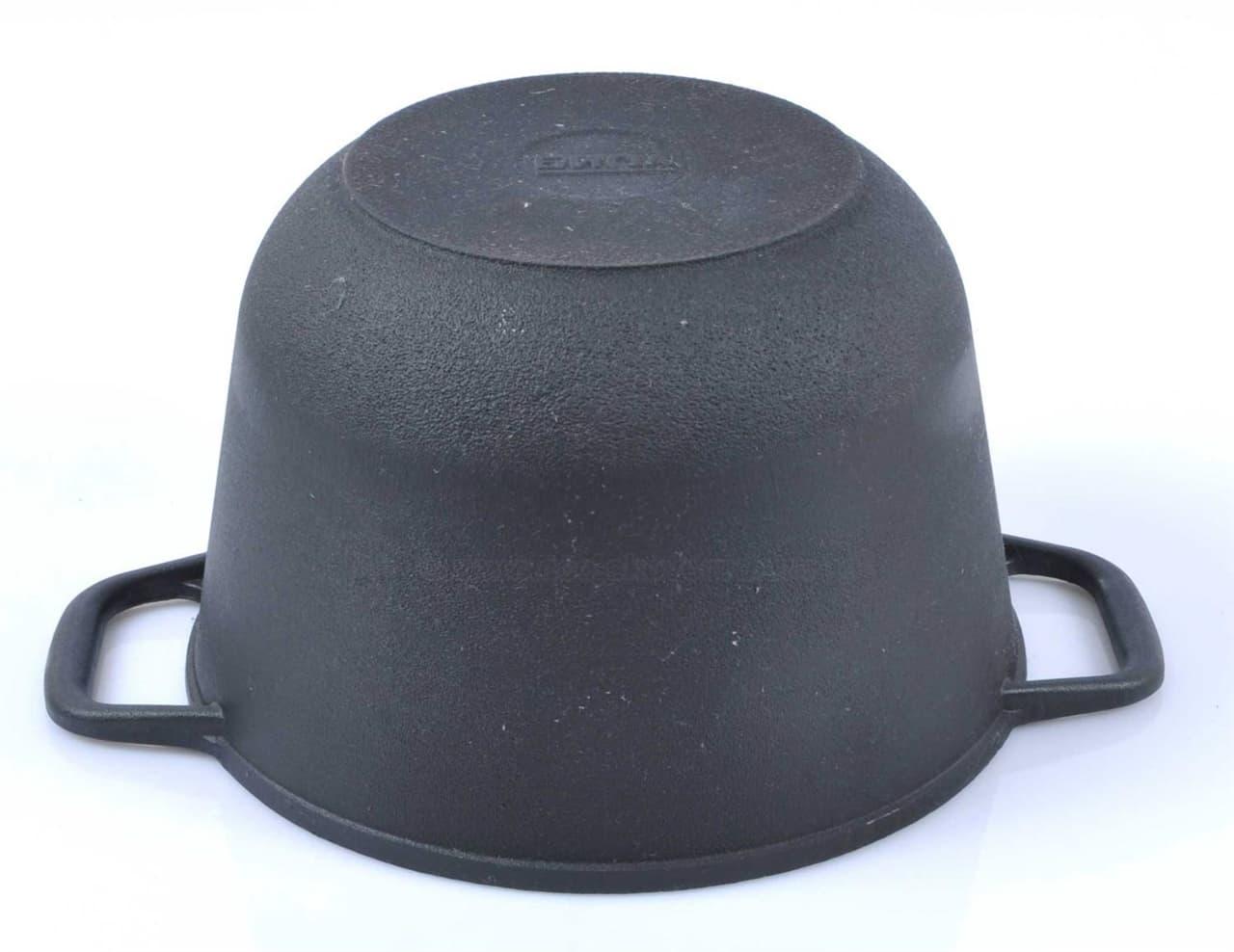 Кастрюля чугунная 4 л. с крышкой сковородой БИОЛ 0204 фото