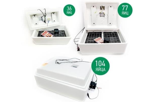Инкубатор Несушка 104 яйца 220/12 В, автомат. пов., цифр. терм.,гигрометр, арт.64г - фото 5520