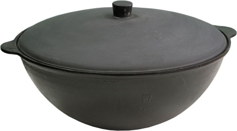 Комплект: Чугунный казан 10 л. Балезинский ЛМЗ + Печь D-360 мм s-2 мм.