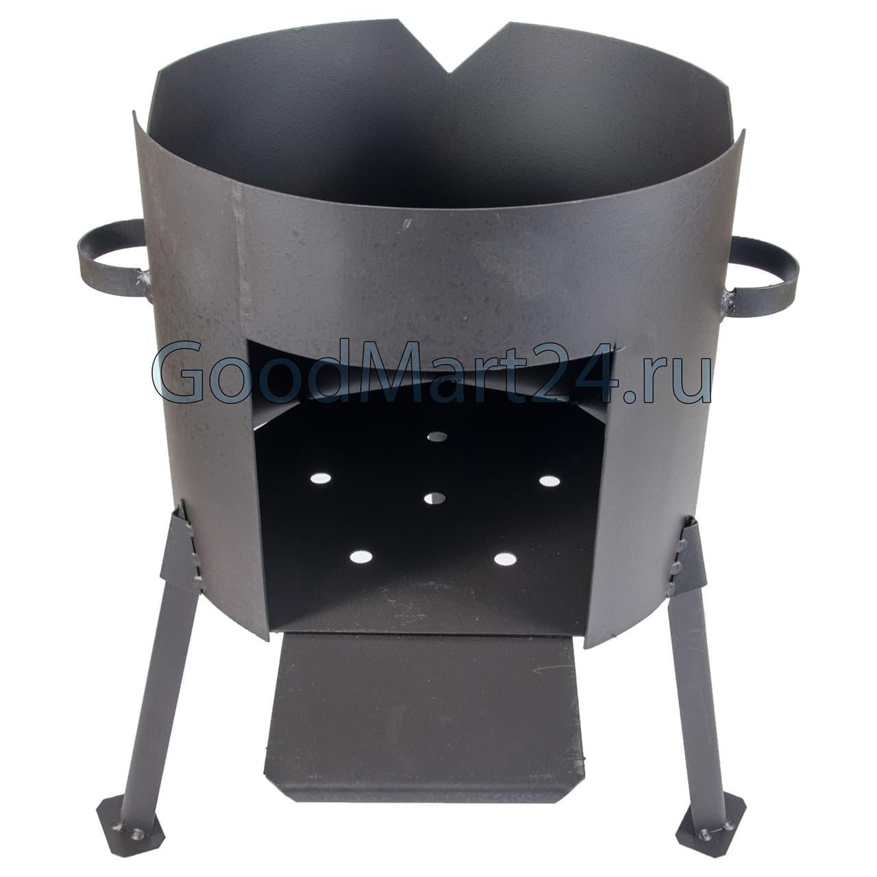 Комплект: Чугунный казан 10 л. Балезинский ЛМЗ + Печь