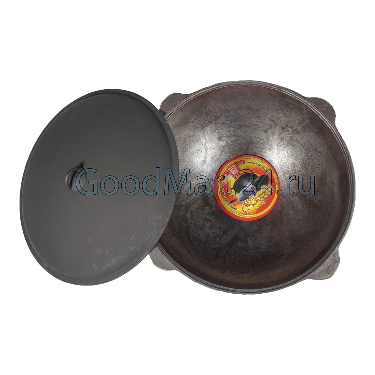 Комплект: Чугунный казан 10 л. Балезинский ЛМЗ + Печь D-360 мм s-2 мм. - фото 5533