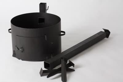 Комплект: Чугунный казан 10 л. Балезинский ЛМЗ + Печь с трубой D-360 мм s-2 мм. - фото 5537