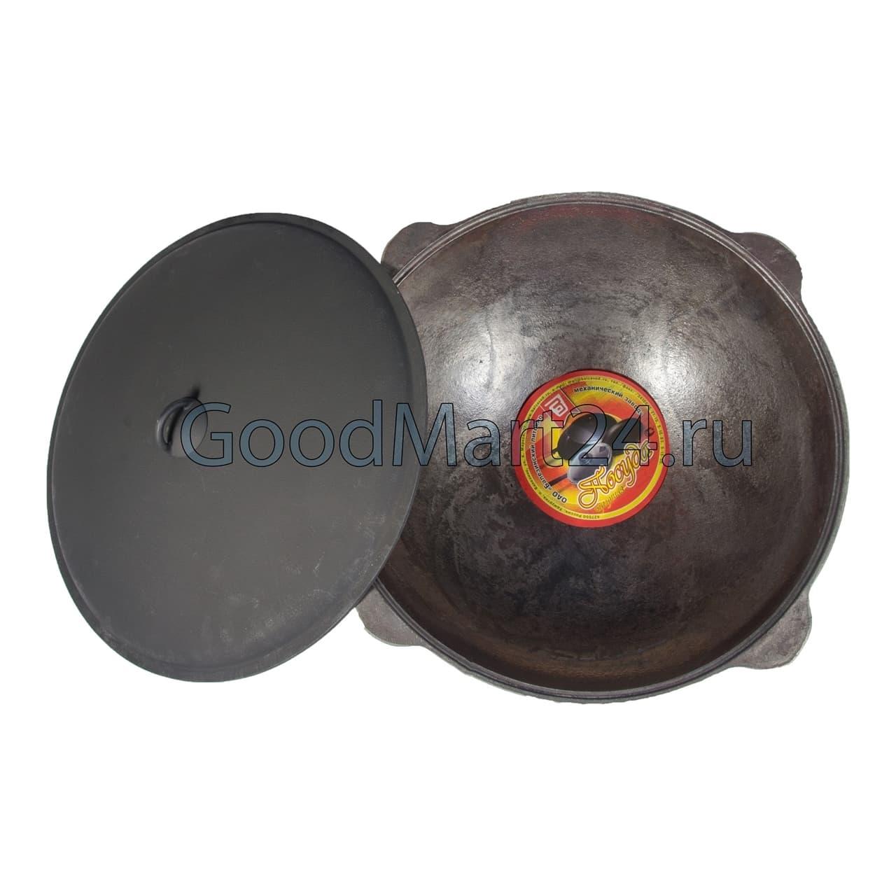 Комплект: Чугунный казан 10 л. Балезинский ЛМЗ + Печь с трубой D-360 мм, усиленная s- 3 мм. - фото 5543