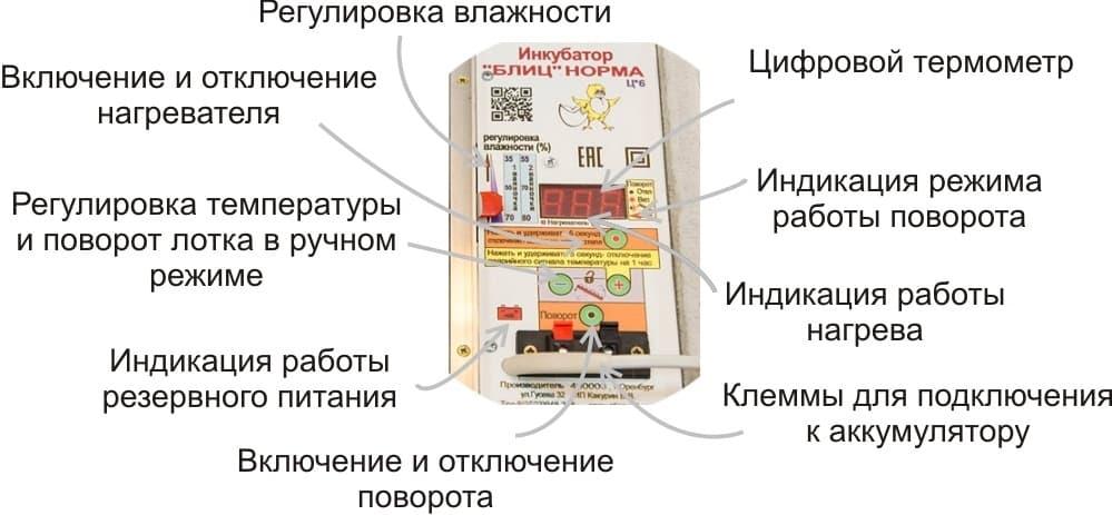 Отзывы на Инкубатор блиц Норма цифровой 72 яйца 220/12В с автоматическим поворотом и регулировкой влажности