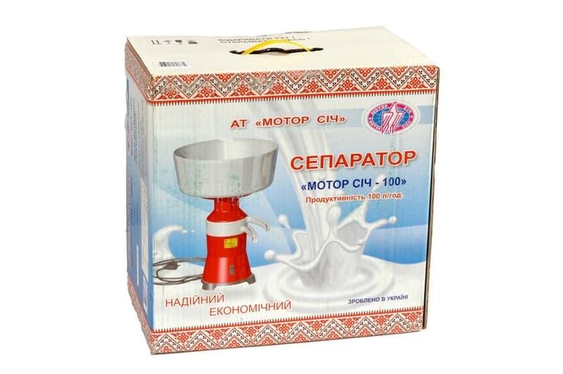 Сепаратор для молока Мотор Сич 100-18, 100 л/ч фото