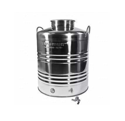 Традиционная бочка с краном на 20 литров из нержавеющей стали Sansone - фото 6074