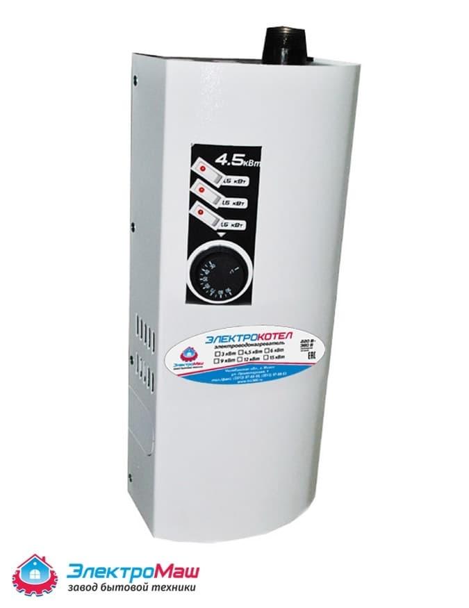 Электрокотел отопления Электромаш ЭВПМ - 4,5 кВТ фото