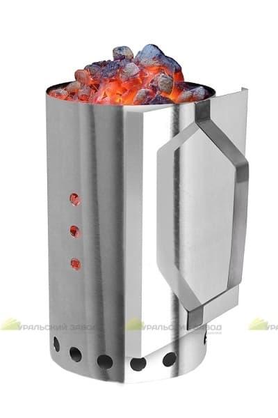 Стартер для розжига угля ЧУДО ЖАР, нержавеющая сталь, УЗБИ - фото 6470