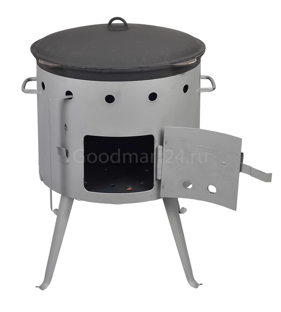 Чугунный казан с крышкой 4 л. Балезино и печь KUKMARA - фото 6565