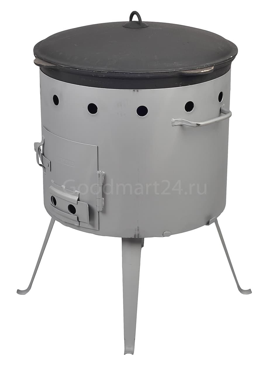 Чугунный казан с крышкой 6 л. Балезино и печь KUKMARA - фото 6575