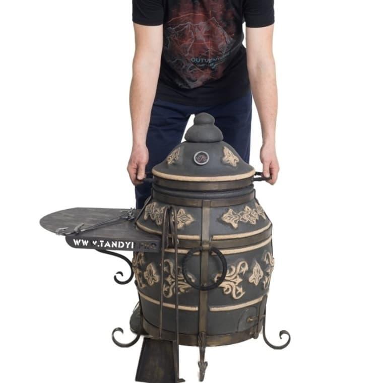 Тандыр Фирменный со столиком, графит, Эко фото
