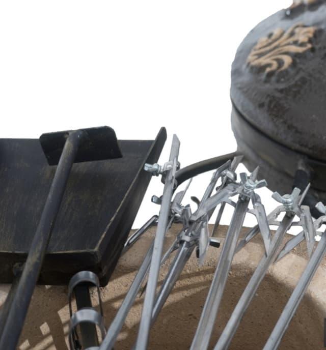 Тандыр Гранд с подставкой под крышку, чёрный, Эко - фото 6847