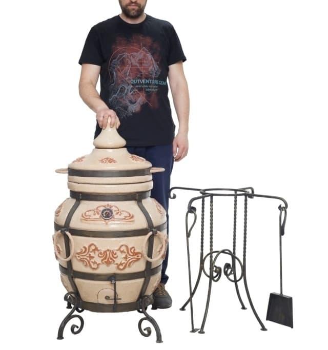 Тандыр Гранд с подставкой под крышку, слоновая кость, Эко фото