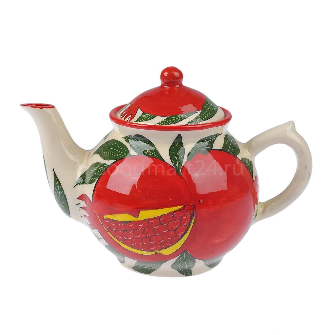 Чайник Риштанская Керамика 1 литр гранат
