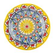 Тарелка Риштанская Керамика 17 см. желтый Мехроб