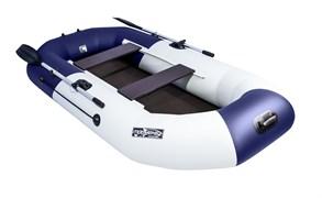 "Светло-серая/синяя лодка Таймень NX 270 C ""Комби"" Фото"