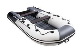 "ПВХ Лодка Ривьера компакт 3200 НДНД ""Комби"" светло-серый/графит фото"