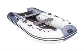 Лодка ривьера компакт 3400 СК Комби Светло-серый/графит фото