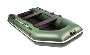 Лодка ПВХ Аква 2900 Слань-книжка киль под мотор зеленая Фото
