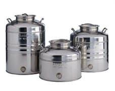 Традиционная бочка с краном на 50 литров из нержавеющей стали Sansone