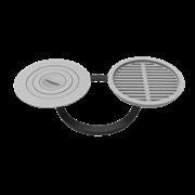 Комплект 400 (плита+решетка-гриль для печи Берель) фото