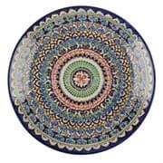 Ляган Риштанская Керамика 38 см. плоский, синий фото