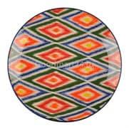 Ляган Риштанская Керамика 42 см. плоский, Атлас фото