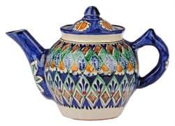 Чайник заварочный Риштанская Керамика 1 л. синий купить