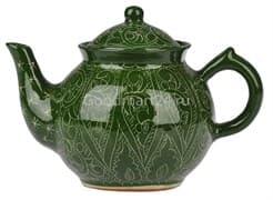 Чайник заварочный Риштанская Керамика 1 л. зеленый фото