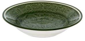 тарелка глубокая из риштанской керамики купить