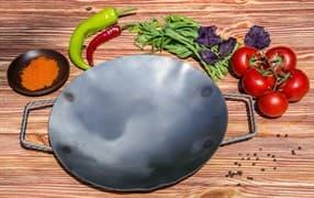 Садж сковорода без подставки, нержавеющая сталь, 29 см.