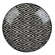 Ляган Риштанская Керамика 38 см. плоский, Чёрный Атлас