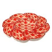 Салатница набор из 9 блюд 42 см. Красный Атлас