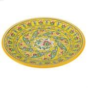 Тарелка плоская Риштанская Керамика 27 см. желтая купить